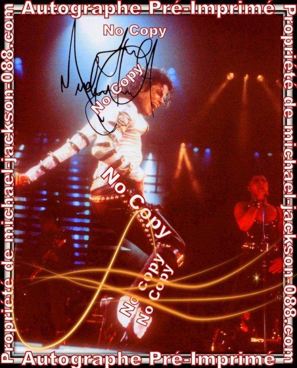 Authentiques Pré-Imprimés d'Autographes de Michael Jackson et Britney-Spears !!!