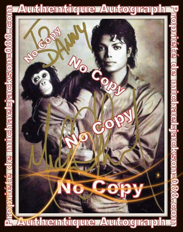 "Authentique Autographe dédicacé par Michael Jackson pour Danny Sugerman, l'ex-Manager du groupe "" The Doors "" !!!"