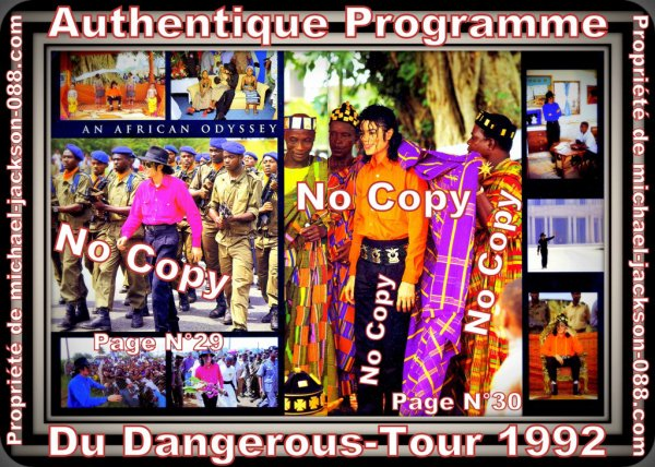 Authentique Programme Du Dangerous-World-Tour 1992 !!! :