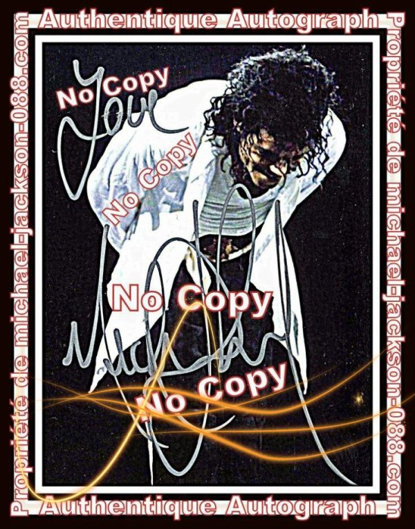 Authentique Autographe dedicace par Michael Jackson durant le Bad-World-Tour en 1988 !!!