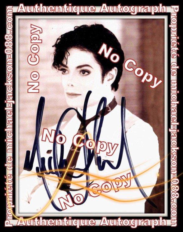 Magnifique et Authentique Autographe de Michael Jackson !!!
