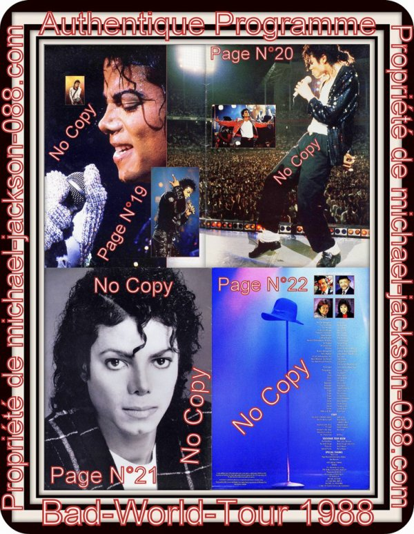 Magnifique & Authentique Programme du Bad-World-Tour en 1988 !!!