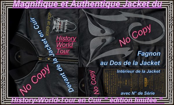 """Authentique Jacket du History-World-Tour en Cuir """" édition limitée avec numéro de série """" !!!"""