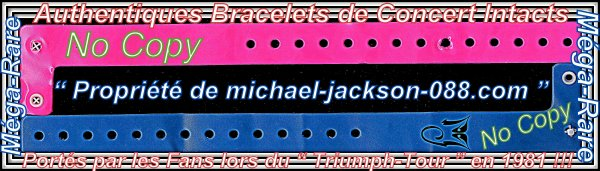 "Authentique PASS "" GUEST "" ( PRO ) JACKSONS U.S. TOUR 1981 + Bracelets Concerts "" Trumph-Tour "" !!!"