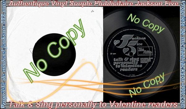 "Authentique Vinyle Souple Publicitaire "" Jackson Five "" Valentine readers !!!"