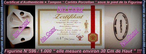 """Magnifique et Authentique Figurine Porcelaine """" Gold-Platinium """" History """" N° 596 / 1.000 """" avec Certificat d'Authenticité !!!"""