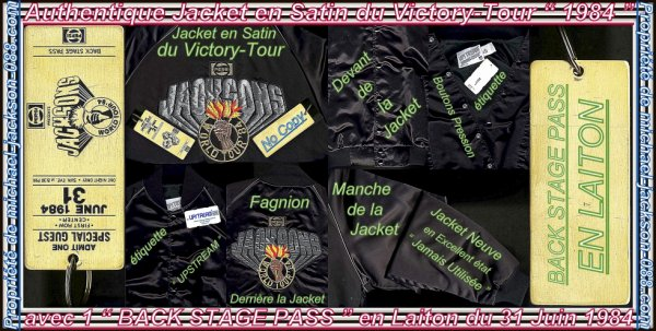 Authentique Jacket & Authentique PASS Victory-Tour 1984 !!! :