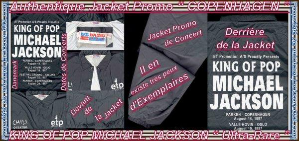 """Authentique Jacket Promo du """" DANEMARK """" ( COPENHAGEN ) avec Dates de Concert !!! :"""