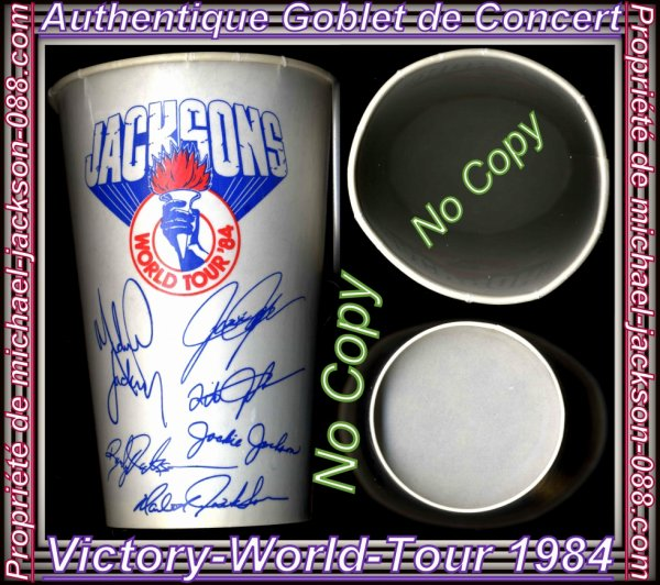 "Authentiques Canettes & Goblets de Concerts "" Victory-Tour & Bad-Tour "" + 1 Photo Bonus !!! :"