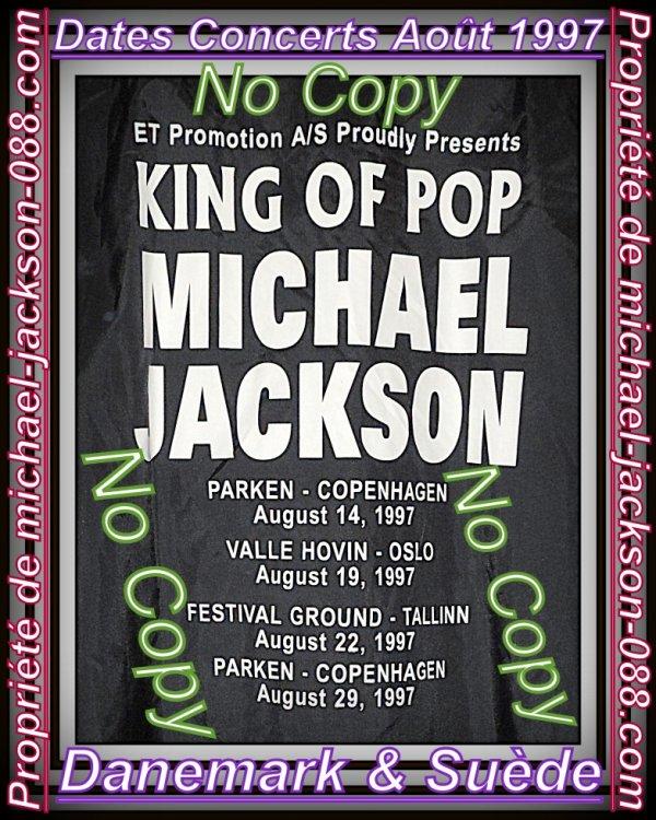"""Jacket Promo Backstage en Cuir du History-Tour 1997 """" Lives Danemark & Suède """" !!! :"""