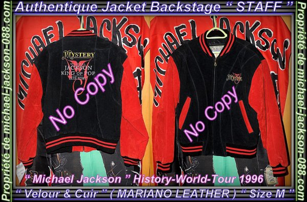 "Magnifique & Authentique Jacket "" Backstage "" STAFF en Velour & en Cuir ( MARIANO LEATHER ) :"