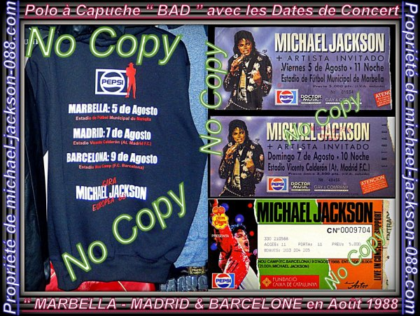 "Authentique Ticket de Concert de "" MARBELLA "" du 5 Août 1988 en Espagne + Photo Bonus :"