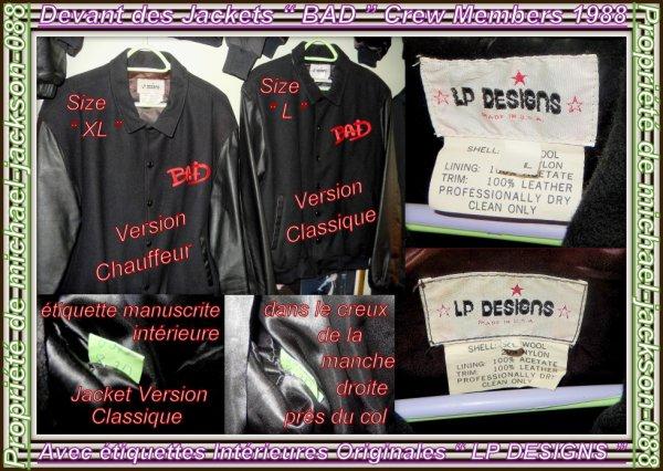 """Magnifiques & Authentiques Crew Jackets """" BAD-WORLD-TOUR 1987-88 """" + Authentiques Photos Pro Concert :"""