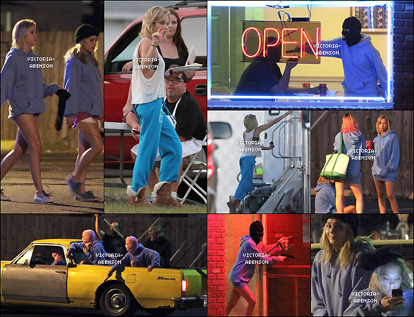 ". 15/03/2012 Ashley et Vanessa sur le tournage de "" Spring Breakers"" ."