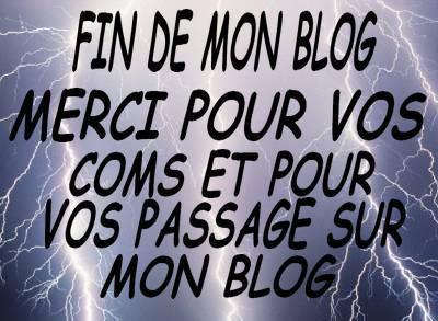 Voila fin de mon blog