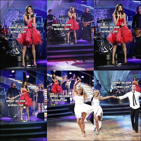 > Appareance :  o5 | o4 | 2o11 : Selena sur le plateau de Dancing with the stars , interprétant Who's says . Simple est jolie dans cette robe rouge , et surtout pétillante ! Ton avis ? (Video)