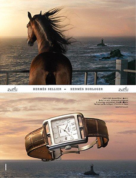 Publicité avec des chevaux