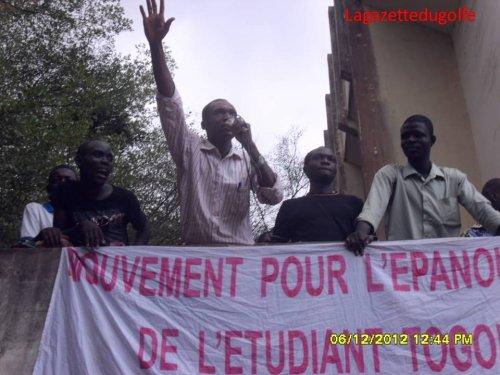 Les étudiants togolais déterminés à se faire respecter « Nous allons rentrer dans des manifestations rigoureuses plus que ce que vous avez vu l'année dernière » dixit Kodjo AWOUDI