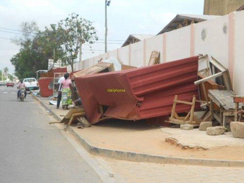 Les hangars et baraques des revendeurs d'Agbadahonou et ceux situés le long du nouveau marché démolis