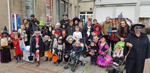 Mes enfants à la fête d hallowen
