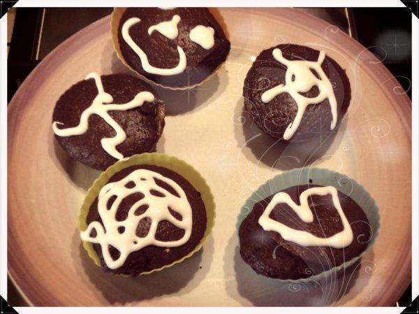 Cupcakes Banane/ Chocolat avec glaçage