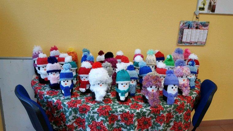 La famille Pingouin pour le marché de Noël