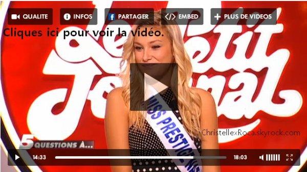 5 décembre 2011 | Christelle Roca dans le Petit Journal de Canal +