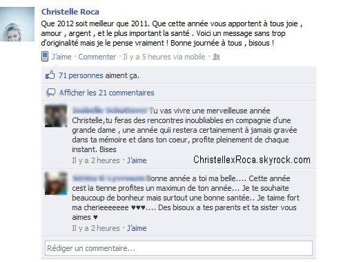 Voeux de Christelle pour cette année 2012.