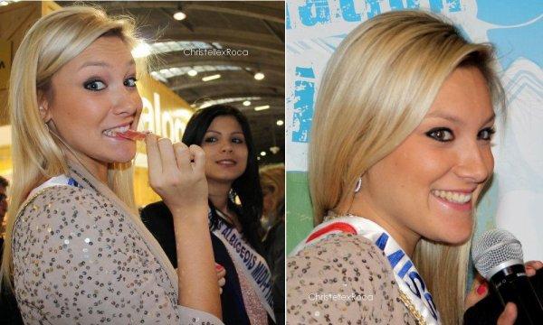 04.02.2012   Christelle était au Salon du Tourisme à Toulouse au côté des Miss du Sud (dont Miss Albigeois-Midi Pyrénées 2011, Laetitia Tolfo)
