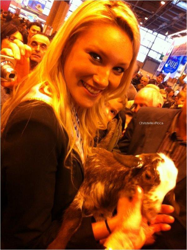 28.02.12 | Christelle était au Salon de l'Agriculture à Paris.