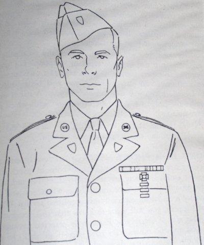 Port réglementaire du bonnet de police (garisson cap) US