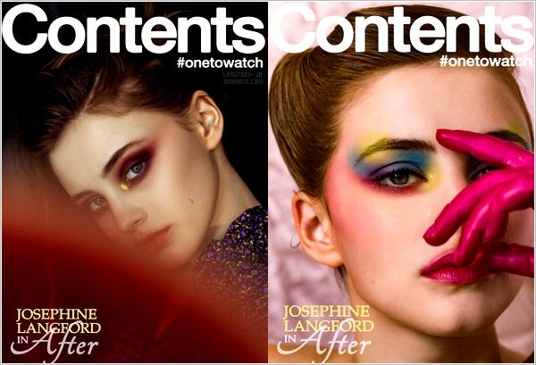 -  '-MAGAZINE ●---Jo a été photographiée par Jeffrey Baum, pour le magazine : « ContentMode » !  -