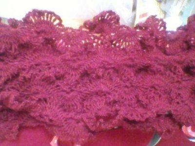 voila le challe qui ma demandée 96h de travail et 18 pellotes de laine